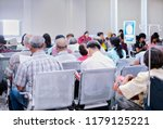 back view of old people in the... | Shutterstock . vector #1179125221
