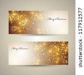 elegant christmas banners | Shutterstock .eps vector #117912577