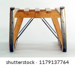 a wooden sledge on white ground ... | Shutterstock . vector #1179137764