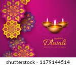 diwali festival holiday design... | Shutterstock .eps vector #1179144514