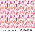 seamless pattern with acorns... | Shutterstock .eps vector #1179149254