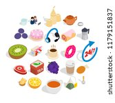brekker icons set. isometric... | Shutterstock .eps vector #1179151837