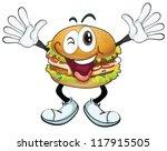 illustration of a burger on a...