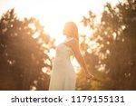 i love my life. happy pregnant... | Shutterstock . vector #1179155131