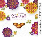 diwali festival holiday design... | Shutterstock .eps vector #1179157741