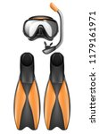 vector realistic set of diver... | Shutterstock .eps vector #1179161971