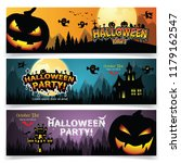 set of three halloween banners. | Shutterstock .eps vector #1179162547