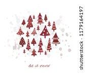 winter holidays banner design... | Shutterstock .eps vector #1179164197