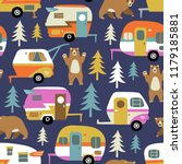 seamless vector pattern with... | Shutterstock .eps vector #1179185881