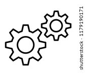 cog symbol  settings conception.... | Shutterstock .eps vector #1179190171