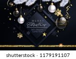 glam christmas cadr with white... | Shutterstock .eps vector #1179191107