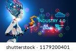 concept industry 4.0.... | Shutterstock .eps vector #1179200401