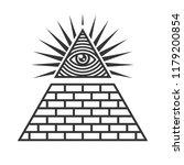 masonic illuminati symbols  eye ... | Shutterstock .eps vector #1179200854