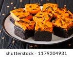 halloween cream cheese brownies ... | Shutterstock . vector #1179204931