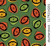 seamless pattern with the image ... | Shutterstock .eps vector #1179214201