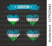 uzbekistan with love. design... | Shutterstock .eps vector #1179223681