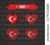 turkey. collection of four... | Shutterstock .eps vector #1179223684