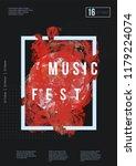 abstract music poster design.... | Shutterstock .eps vector #1179224074