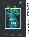 abstract music poster design.... | Shutterstock .eps vector #1179224077