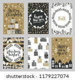 collection of christmas... | Shutterstock .eps vector #1179227074