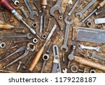 old woodwork and engineering...   Shutterstock . vector #1179228187
