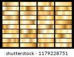 collection of golden metallic... | Shutterstock .eps vector #1179228751