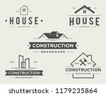 construction vintage logo  | Shutterstock .eps vector #1179235864