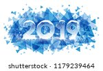 2019 happy new year winter... | Shutterstock .eps vector #1179239464