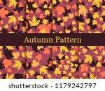 autumn leaves set of seamless... | Shutterstock .eps vector #1179242797