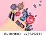 selection of purple foods  ...   Shutterstock . vector #1179243964