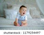 little child baby boy.cute boy...   Shutterstock . vector #1179254497