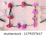 minimal flat lay have an... | Shutterstock . vector #1179257617