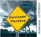 hurricane florence sign ... | Shutterstock .eps vector #1179258514