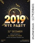 creative 2019 nye  new year eve ... | Shutterstock .eps vector #1179258601