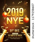 new year celebration template... | Shutterstock .eps vector #1179258607