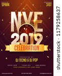 nye  new year eve  2019 party... | Shutterstock .eps vector #1179258637