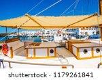 fishing boat interior made of...   Shutterstock . vector #1179261841