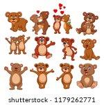 cartoon bear collection set | Shutterstock .eps vector #1179262771