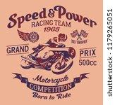 speed power motorcycle racing... | Shutterstock .eps vector #1179265051