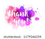 thank you hand lettering phrase ... | Shutterstock .eps vector #1179266254
