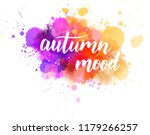 autumn mood   handwritten... | Shutterstock .eps vector #1179266257