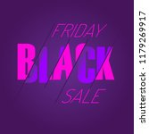 black friday sale design... | Shutterstock .eps vector #1179269917