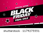 black friday sale banner layout ... | Shutterstock .eps vector #1179275551