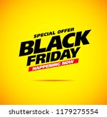 black friday sale banner layout ... | Shutterstock .eps vector #1179275554