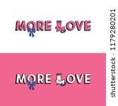 more love. caricature more love ... | Shutterstock .eps vector #1179280201