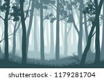 vector blue landscape with... | Shutterstock .eps vector #1179281704