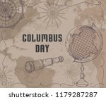 happy columbus day. greeting... | Shutterstock .eps vector #1179287287