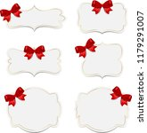 banner with red bow | Shutterstock . vector #1179291007