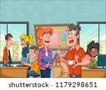 business people in office... | Shutterstock .eps vector #1179298651