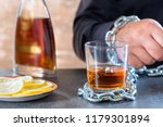 alcohol slave or alcoholism ... | Shutterstock . vector #1179301894